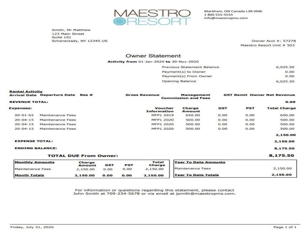 Maestro PMS Software - 5