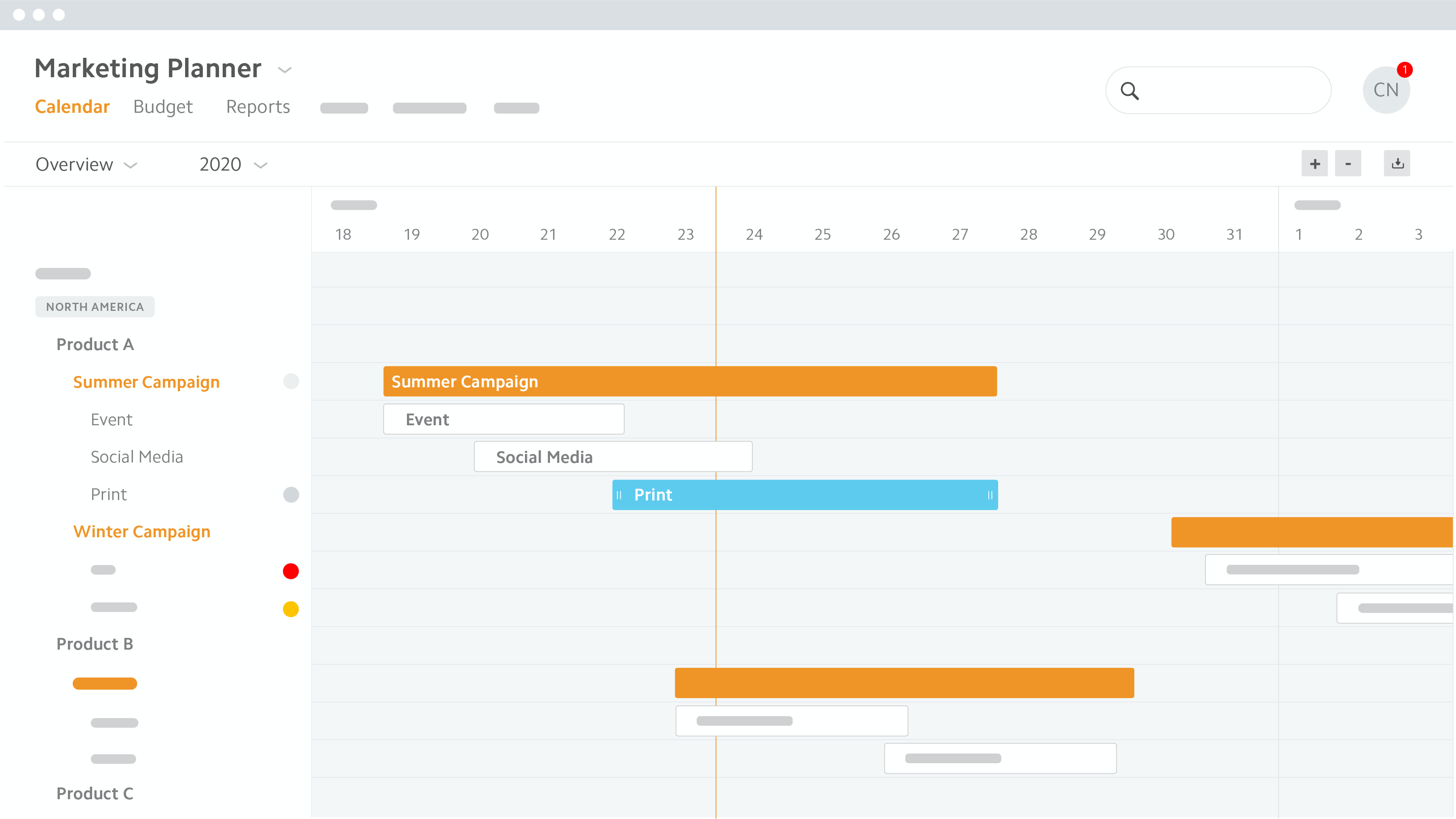 Plan and coordinate all marketing operations transparently for all parties involved. Adjust the freely configurable planning structure at any point to see exactly the level of detail you need.