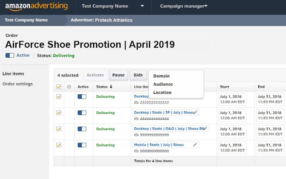 Amazon DSP campaign manager