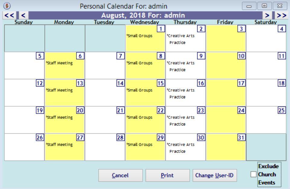 SeekerWorks calendar
