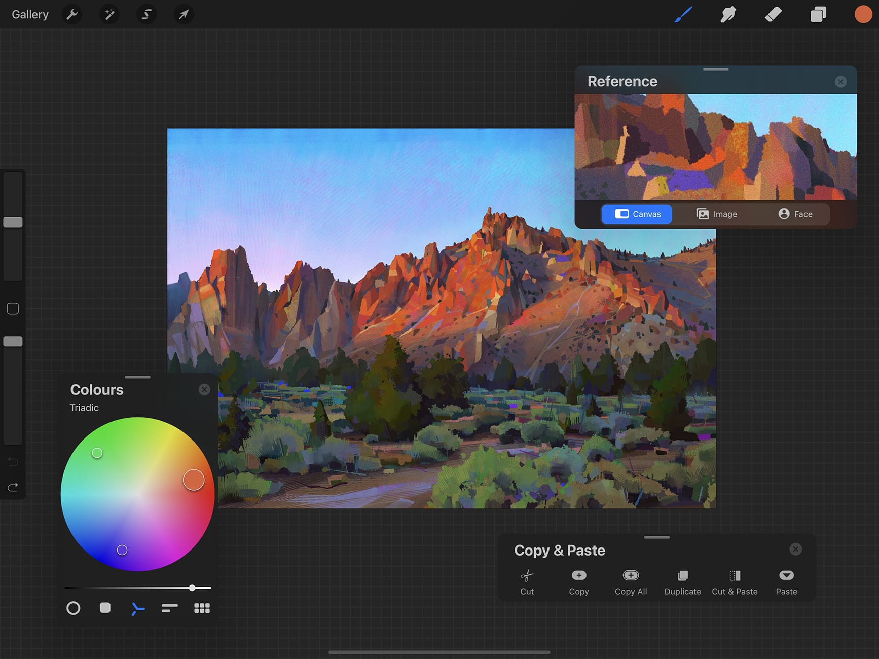 Procreate screenshot: Procreate color-correction