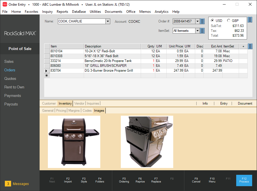 RockSolid MAX Software - Point of Sale