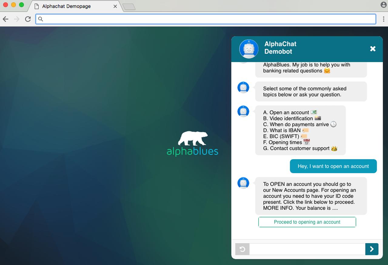 AlphaChat chatbot