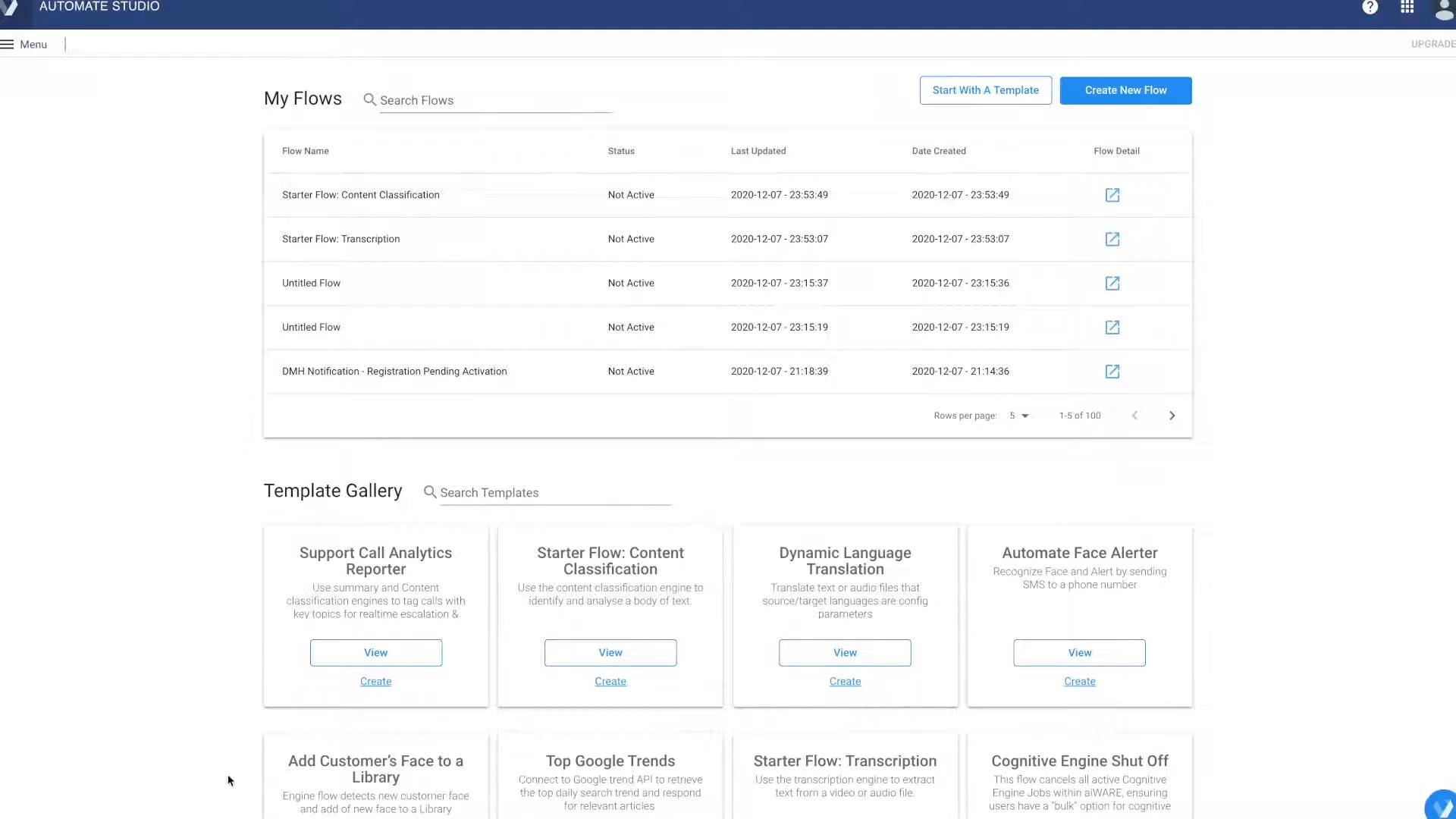 Veritone Automate Studio custom workflows