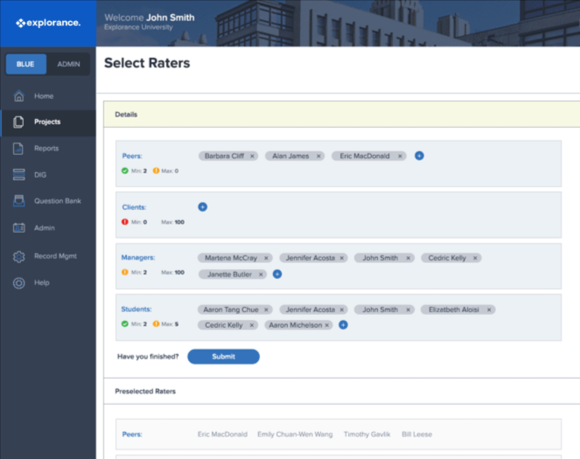 Blue supports 360 degree feedback review initiatives