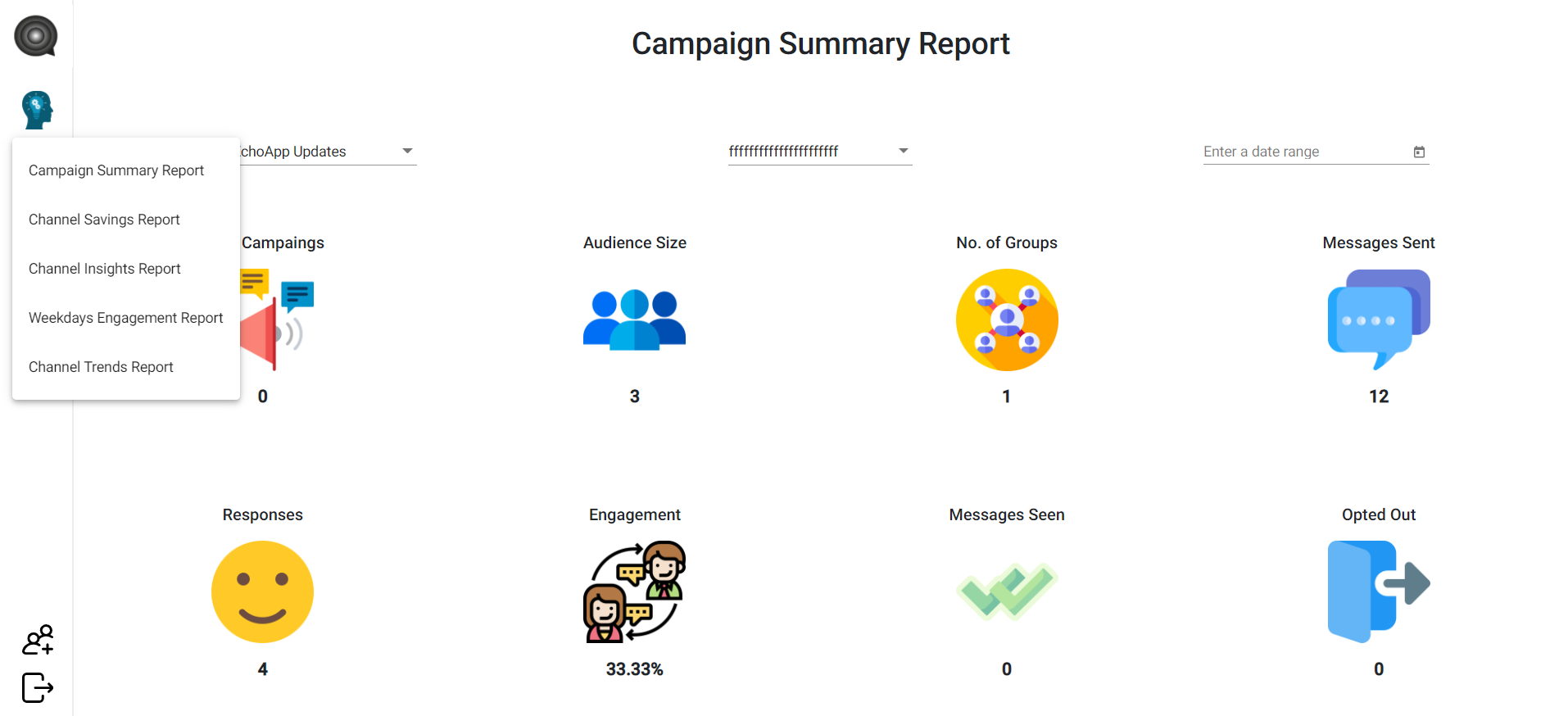 EchoApp Software - Campaign summary report
