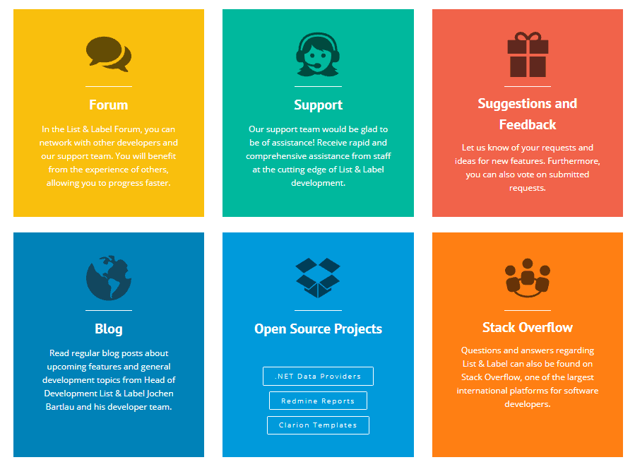Get in touch with our active community or receive support directly from us