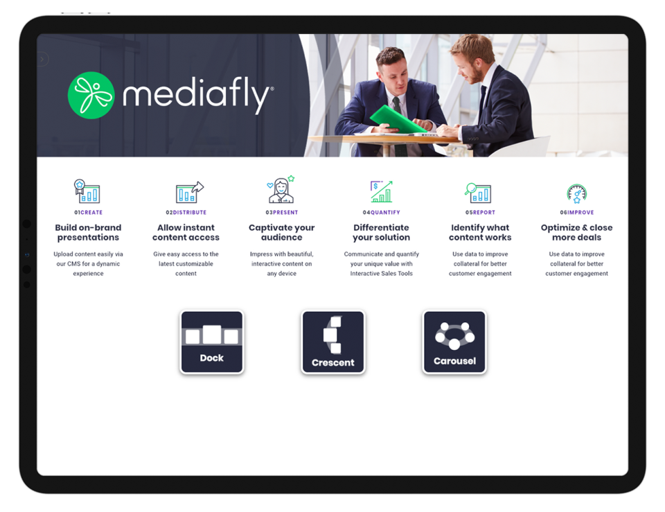 Mediafly Software - Seamless integrations: From CRM and CMS, to email, calendars and training, our robust API ensures you can safeguard existing technology investments while offering the flexibility needed to grow your technology ecosystem.