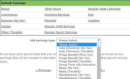 Types of earnings