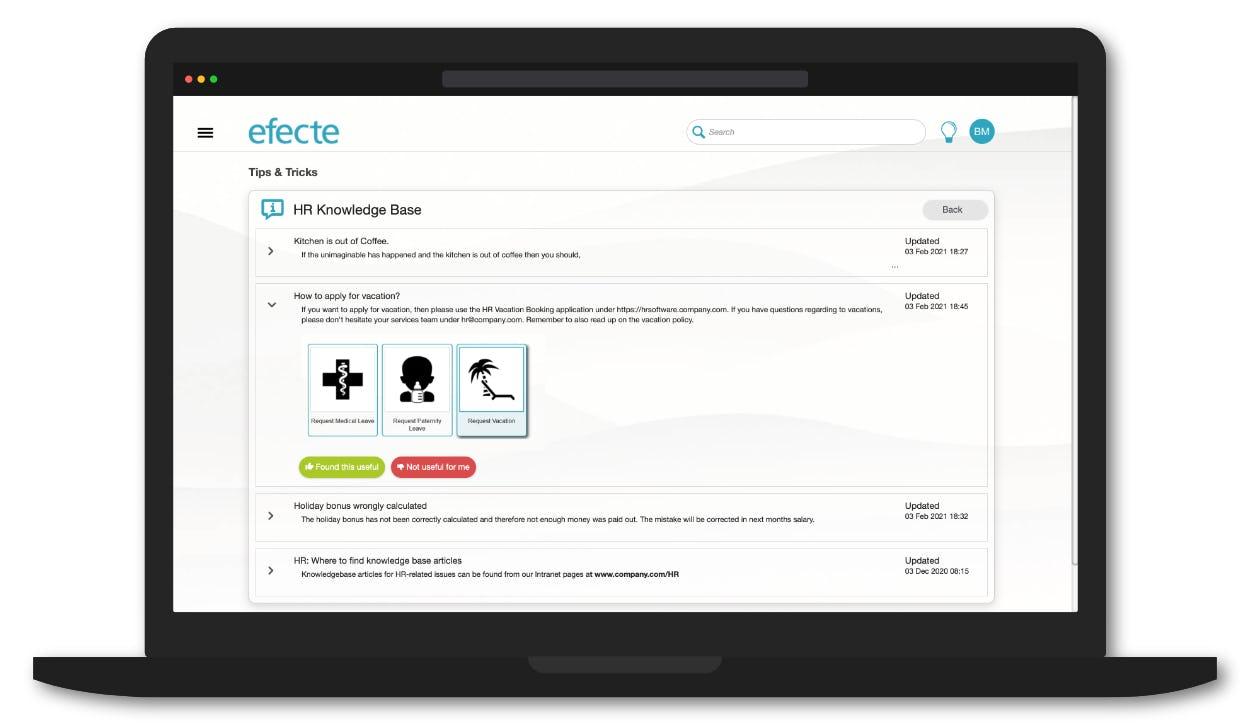 Efecte HRSM Software - Efecte HRSM knowledgebase