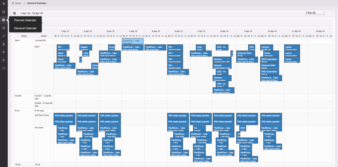 REDLIST: planning and assigned work orders screenshot