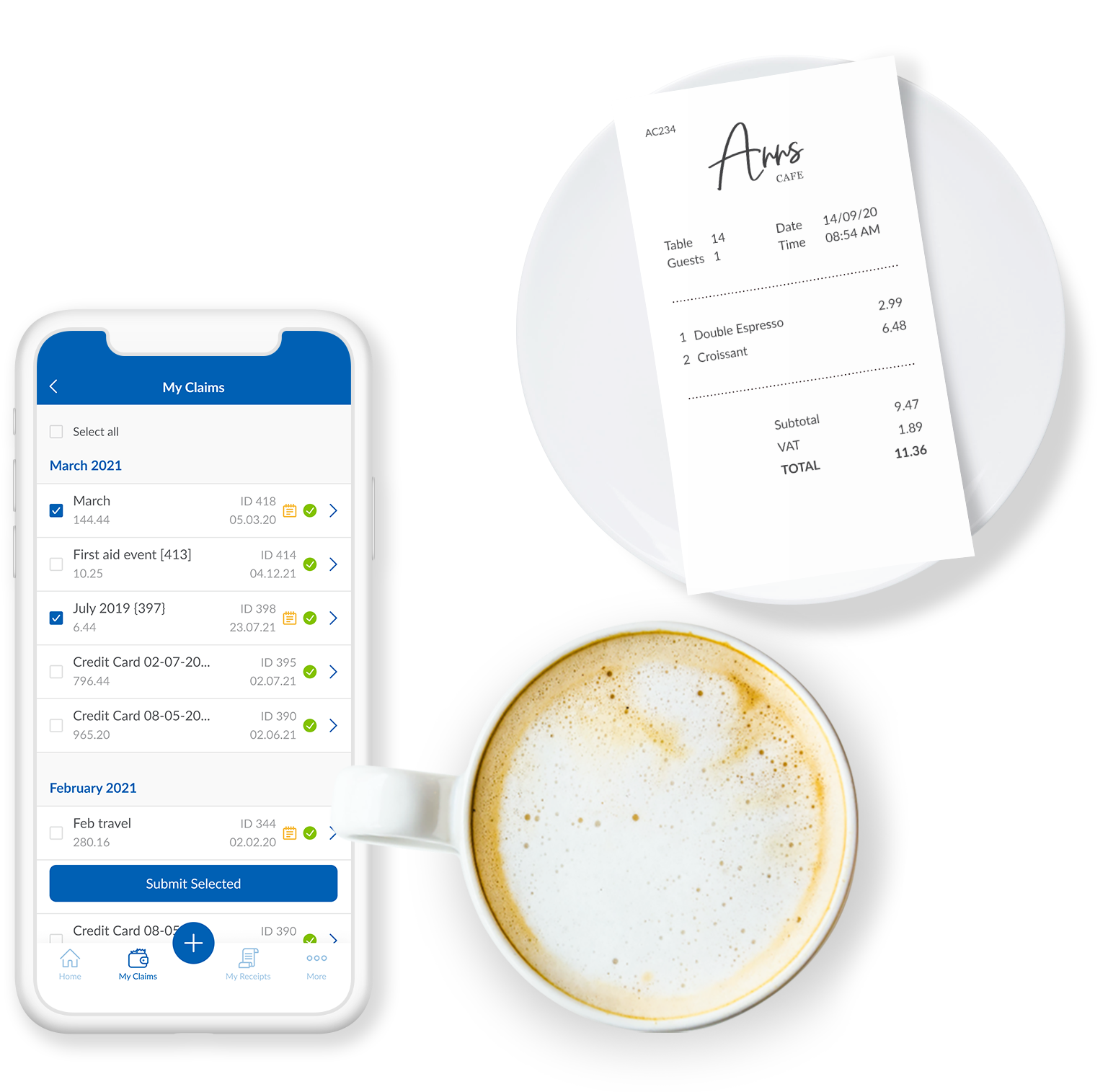 webexpenses Software - Capture Receipts instantly with the Webexpenses Mobile App