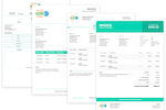 Biller Genie screenshot: We offer multiple invoice templates to choose from, all branded with your colors and logos.