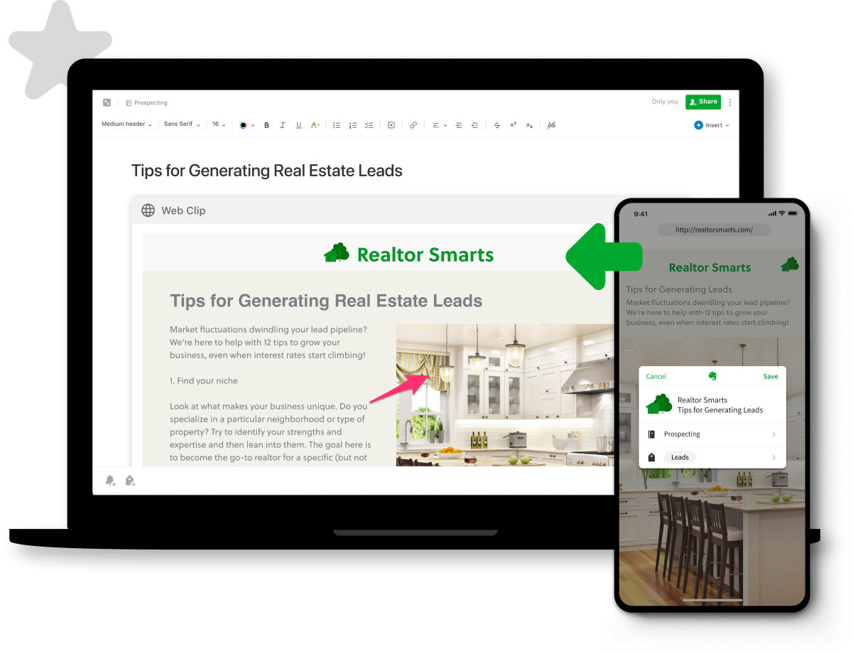 Evernote Teams Software - Save and edit webpages