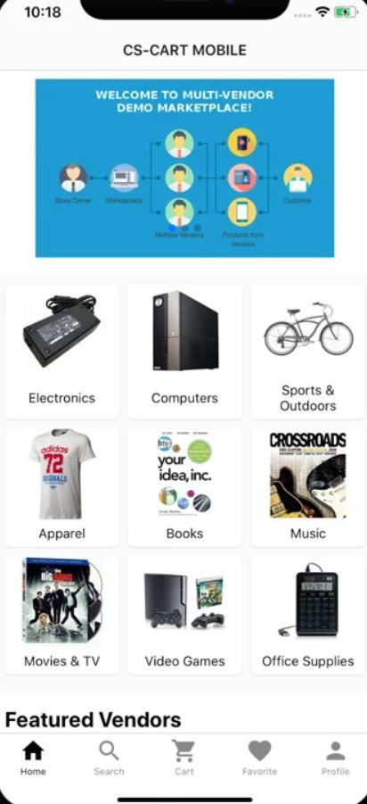 Multi-Vendor Marketplace homepage