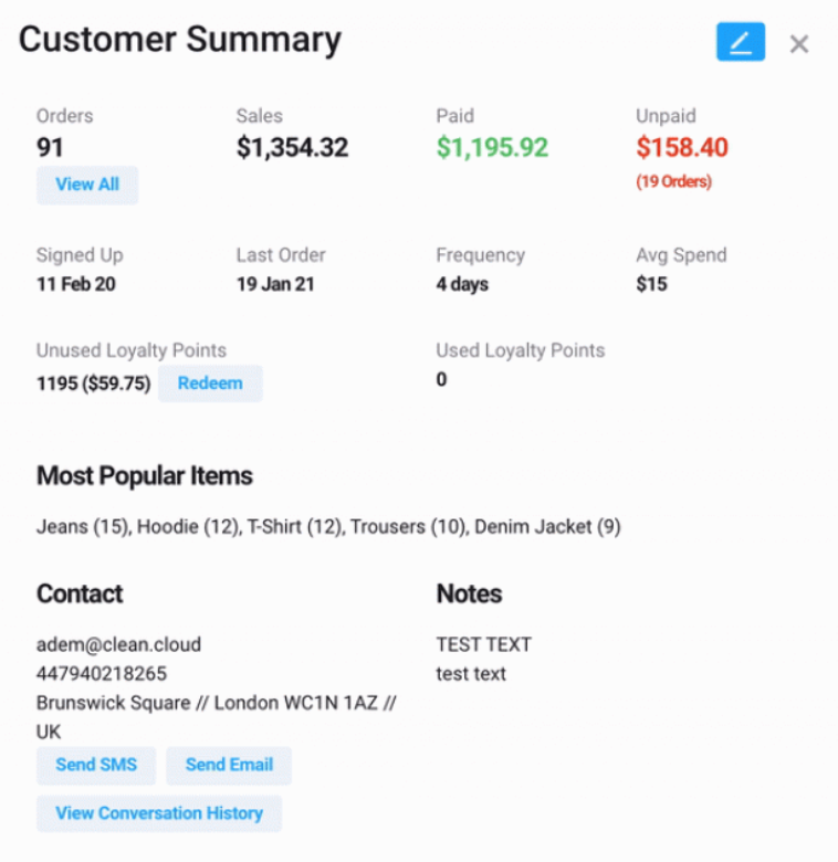 CleanCloud Software - CleanCloud customer summary
