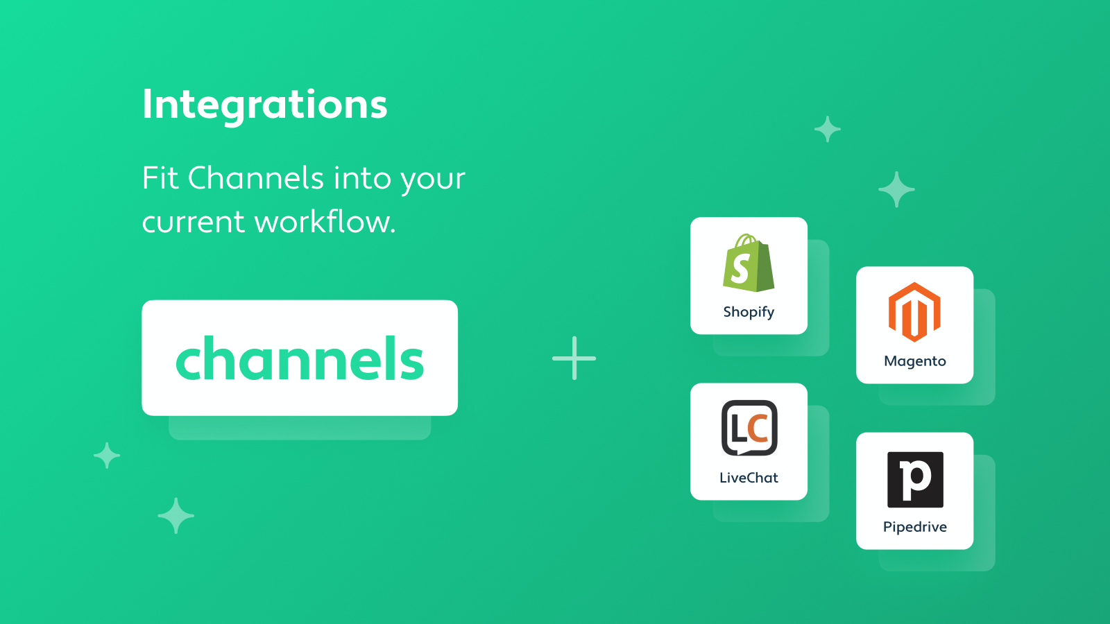 Fit Channels into your workflow with various integrations.