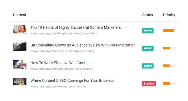 Alter screenshot: Content Management