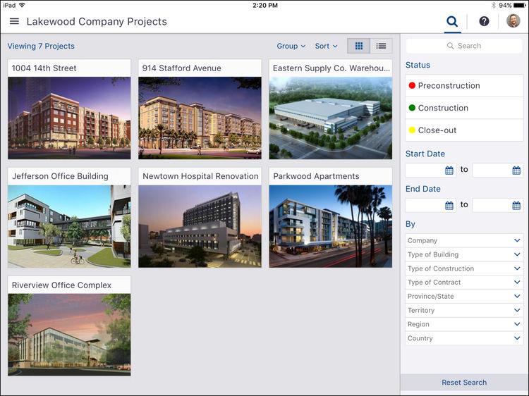 ProjectSight company projects