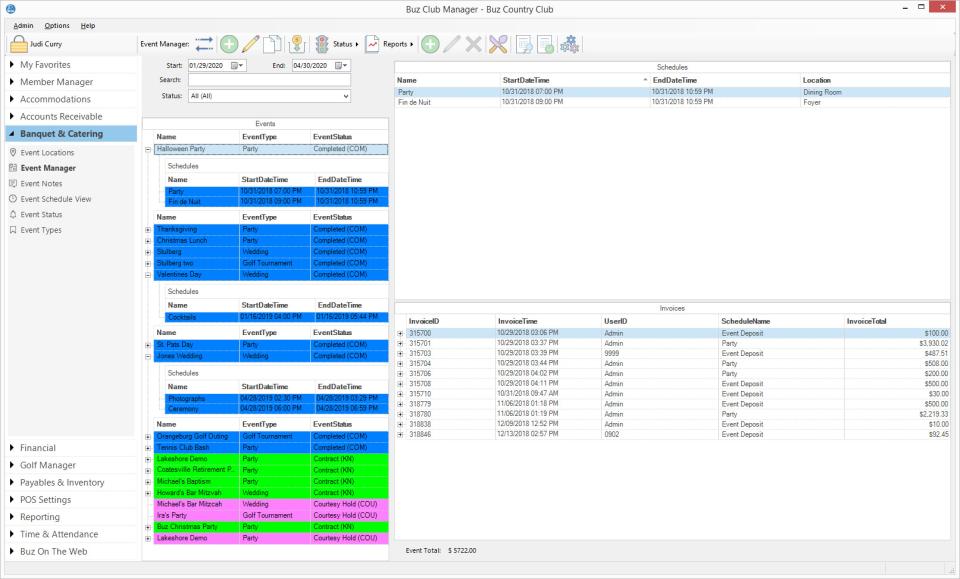 Buz Club Manager Software - Buz Club Manager event management