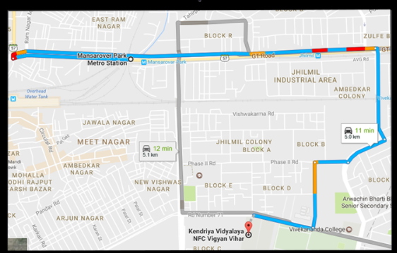 ZibDX route map