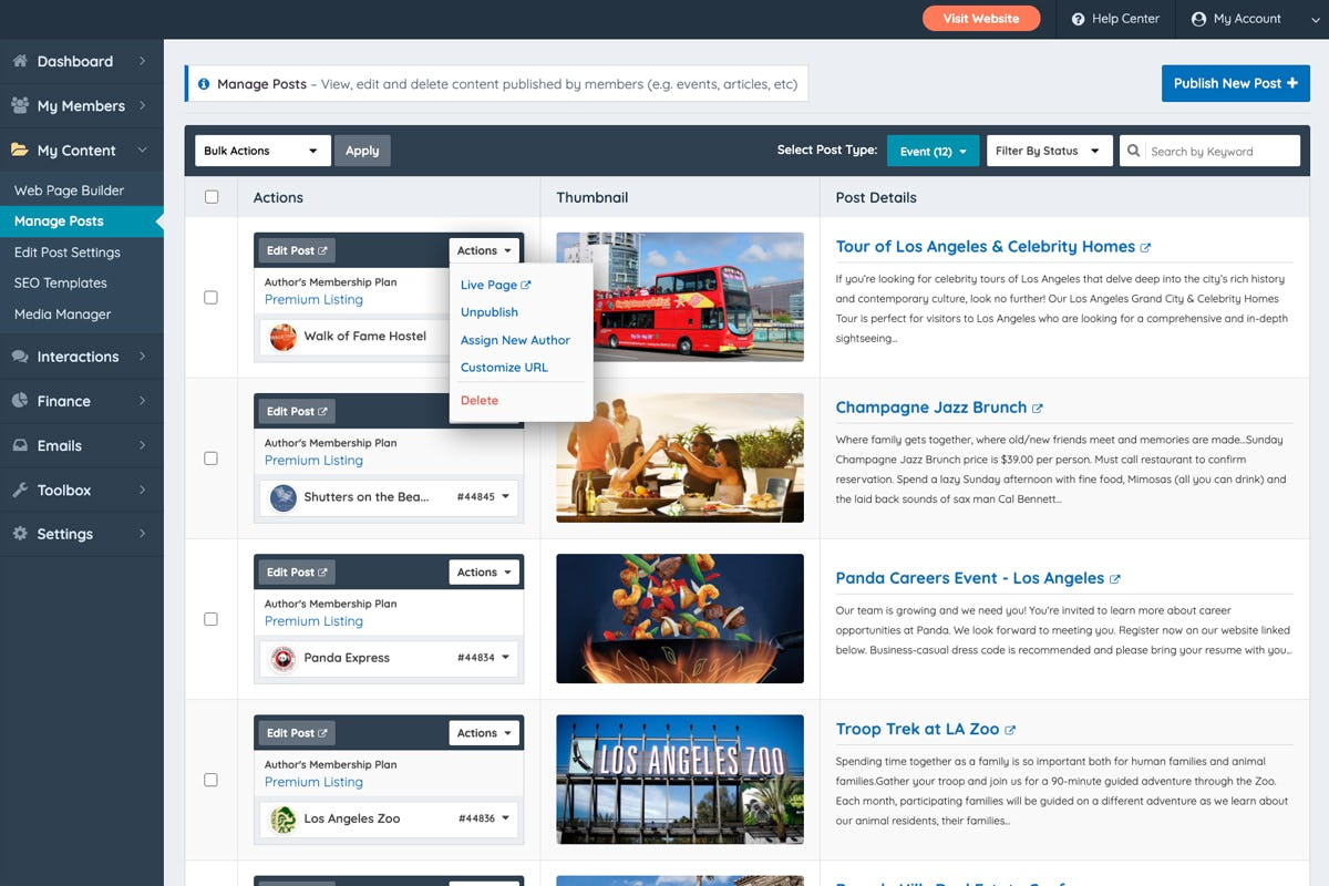 Brilliant Directories Software - Manage Members & Content from Your Own Admin Dashboard