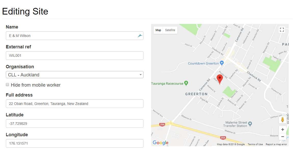 SeeMySite edit site map