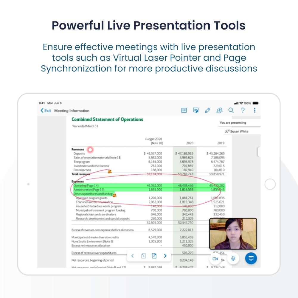 Azeus Convene screenshot: Powerful Live Presentation Tools