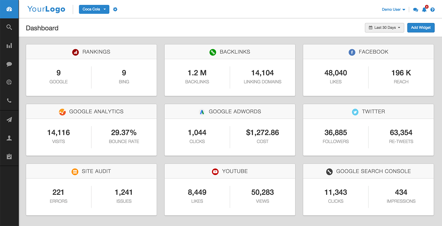 Agency Analytics allows users to create custom dashboards for each campaign