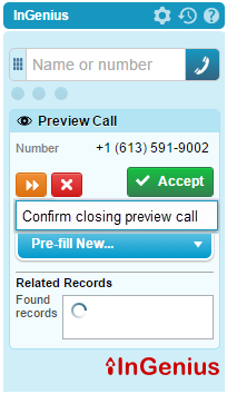 Preview Dialer for Cisco® Unified Contact Center Enterprise (UCCE) provides contact center agents with context before calls connect.