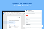 Capture d'écran pour Templafy : Automate compliance into your business documents using a smart template that auto-populates using company-approved materials only.
