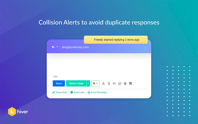 Prevent duplicate responses with collision alerts