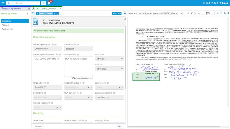 Nakisa Lease Administration Software - 3