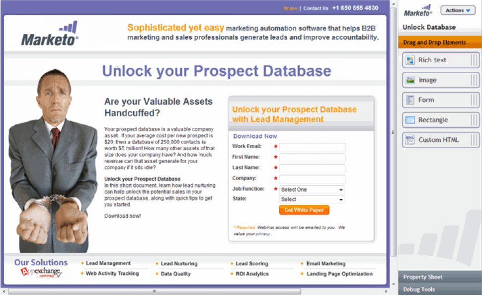 Marketo Engage Software - Marketo Engage - Landing page creation and optimization