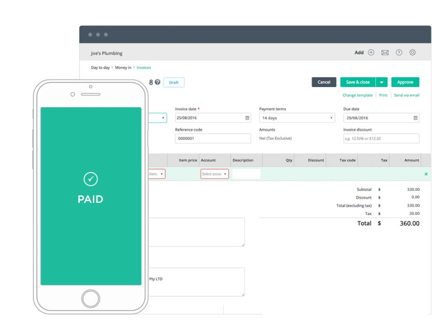Create and approve online invoices