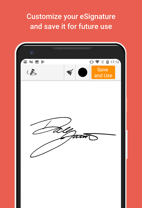 Signatures can be captured electronically