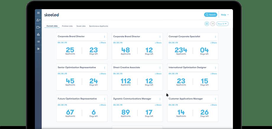 skeeled screenshot: HR Software Interface