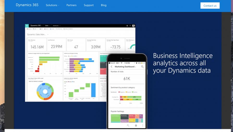 Microsoft Dynamics 365 desktop & mobile view