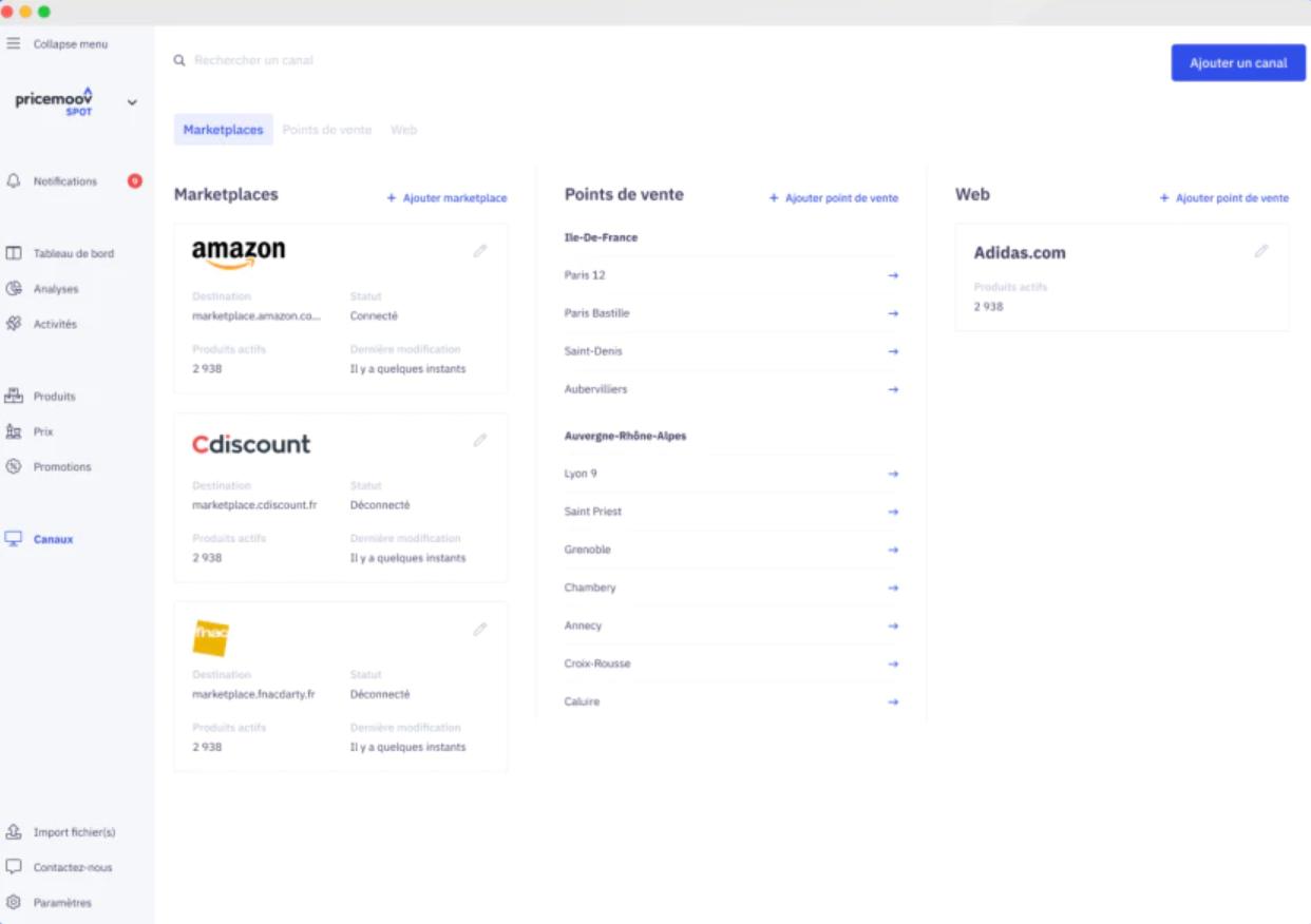 Pricemoov screenshot: Pricemoov eCommerce marketplace