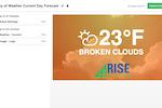 Capture d'écran pour Rise Vision : Rise Vision publish to display
