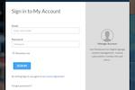 ScreenDrive screenshot: Screendrive user login page