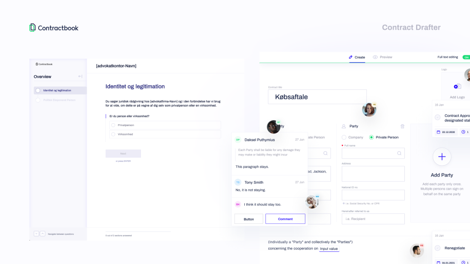 Contractbook Software - Contract Drafter