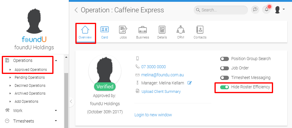 Roster management helps users create rosters, manage roster visibility and replicate schedules