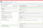Scholarship Lifecycle Manager screenshot: When reviewing applications, view a side-by-side review form with scoring questions on the left, and the applicant's application on the right