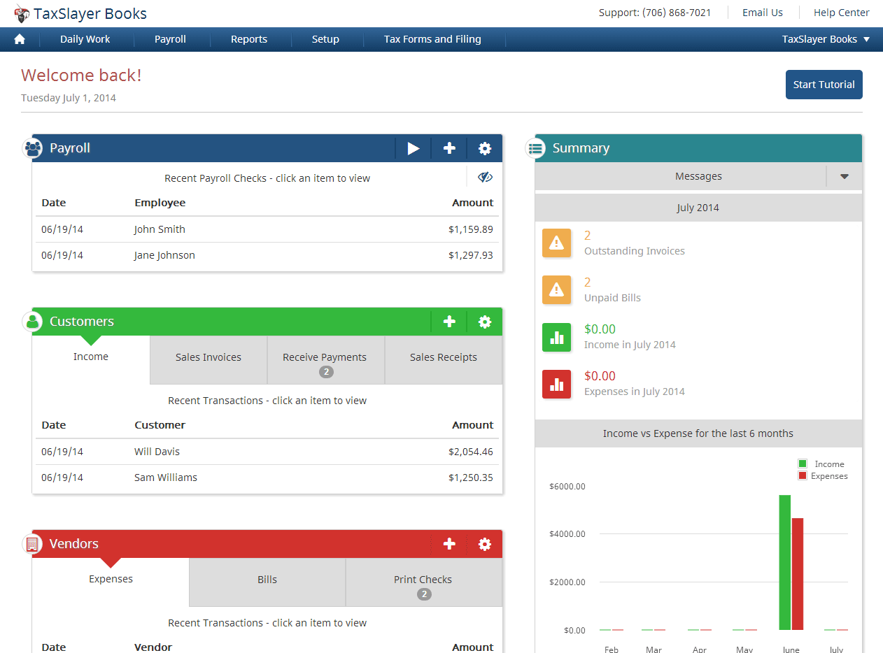 With TaxSlayer Books, users can track their income and expenses