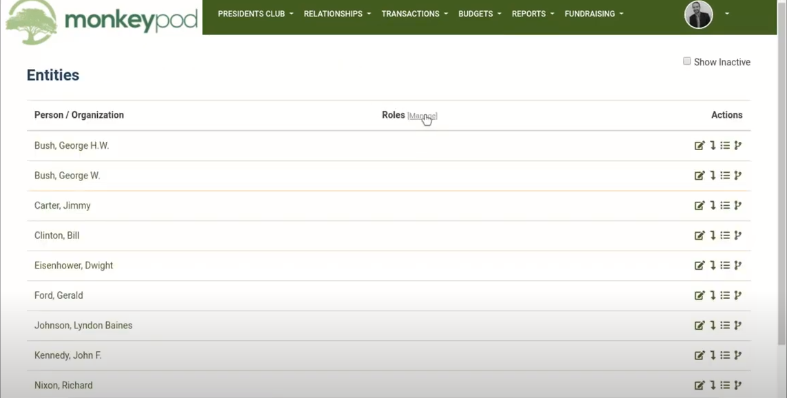 MonkeyPod manage entities in CRM