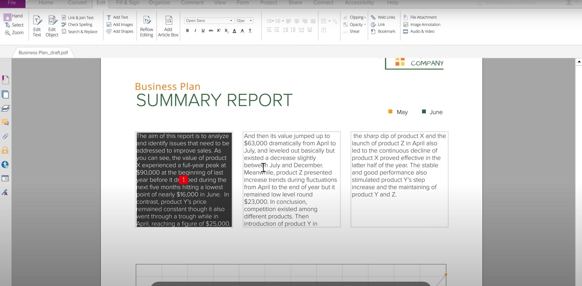Foxit PhantomPDF - edit document