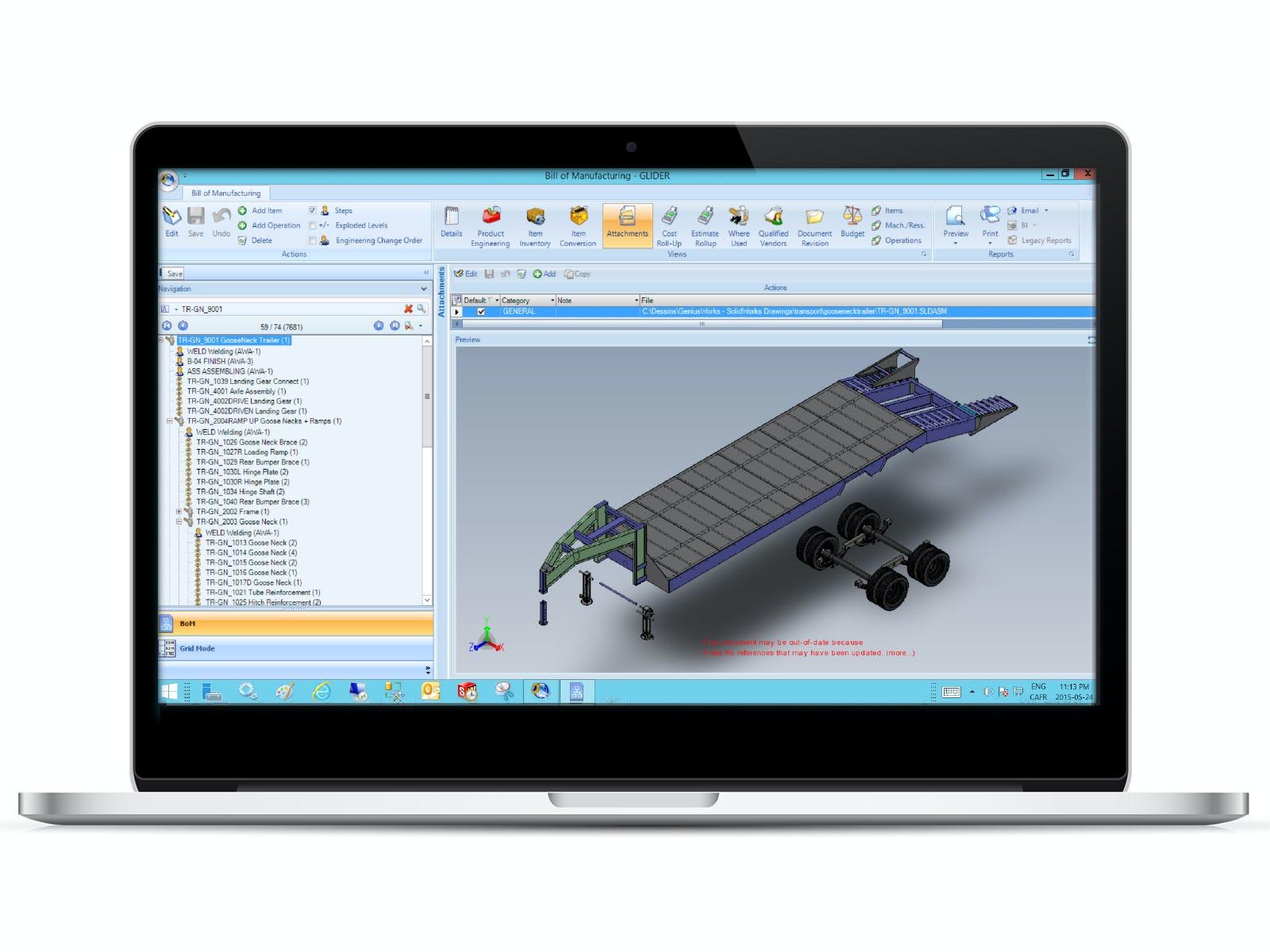Genius ERP Software - Bill of Manufacturing %>