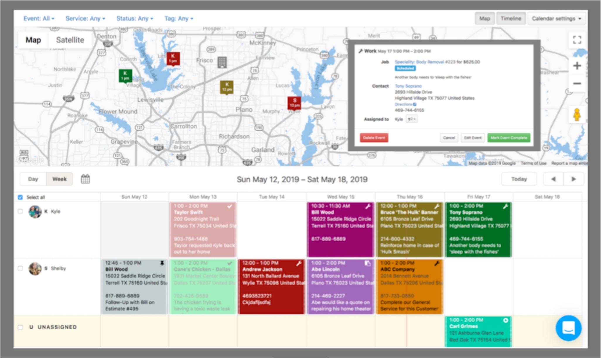 Kickserv Software - Simple scheduling