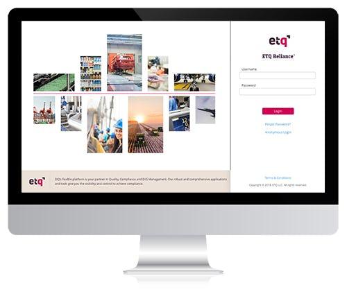 ETQ Reliance Software - Login portal